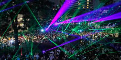 La protesta dei laser a Hong Kong