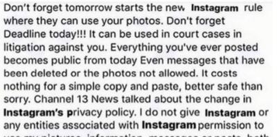 No, Instagram non ha cambiato le regole sui diritti d'autore delle foto