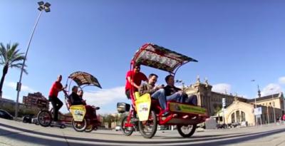Barcellona vuole ridurre il numero dei risciò in città