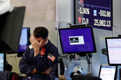 La Borsa di New York oggi ha avuto il suo giorno peggiore del 2019, per via delle tensioni tra Cina e Stati Uniti