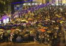 """Ci sono state nuove proteste e violenze a Hong Kong durante una manifestazione per i cinque anni del """"movimento degli ombrelli"""""""