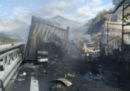 Tre camion e un'auto si sono scontrati sull'autostrada A32 vicino a Bardonecchia, è morto uno degli autisti