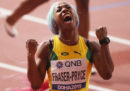 La giamaicana Shelly-Ann Fraser-Pryce ha vinto la medaglia d'oro nei 100 metri ai Mondiali di atletica