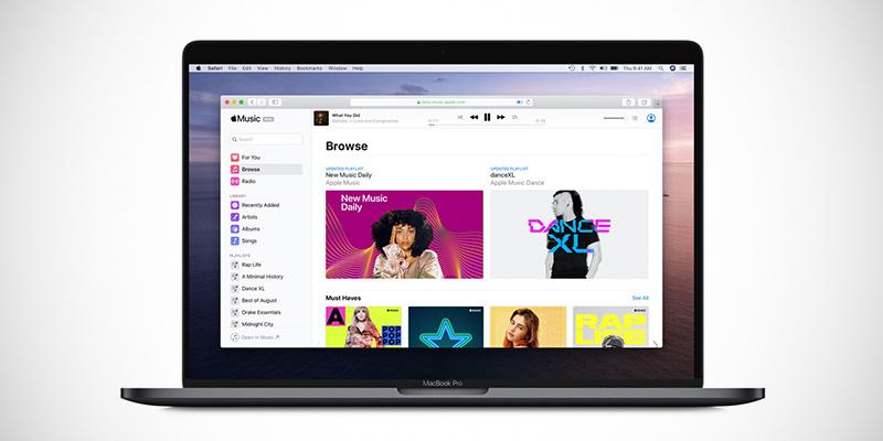 Apple Music è disponibile direttamente dal browser in versione web