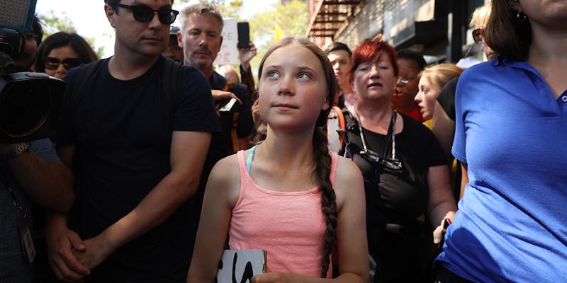 Greta Thunberg si sta facendo una certa idea degli Stati Uniti