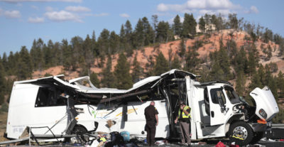Quattro turisti cinesi sono morti in un incidente d'autobus nello Utah