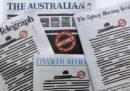 Le prime pagine oscurate dei giornali australiani