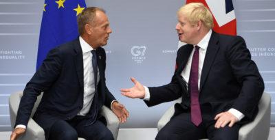Donald Tusk contro Boris Johnson, su Brexit