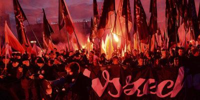 Le foto della marcia dei neofascisti a Varsavia