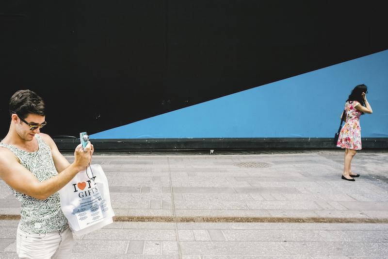 Coincidenze visive per strada a New York
