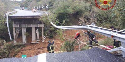 È crollato un viadotto sulla A6 vicino a Savona