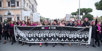 Le foto della manifestazione di sabato a Roma contro la violenza maschile sulle donne