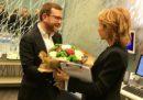 Il ministro Provenzano ha portato i fiori di Salvini a Lilli Gruber