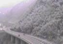 In Alto Adige è stata chiusa l'autostrada fra Bressanone e Vipiteno per danni causati dalla neve