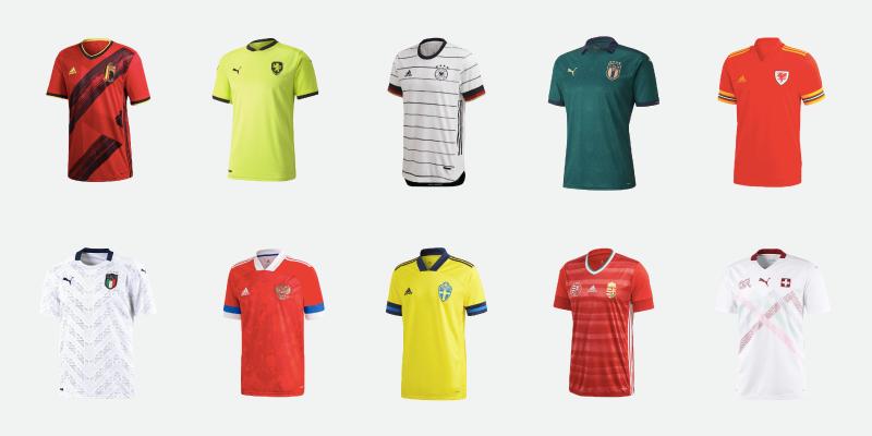 Le maglie degli Europei di calcio 2020