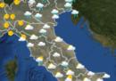 Le previsioni meteo per mercoledì 13 novembre