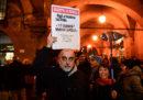La protesta a Modena contro Salvini