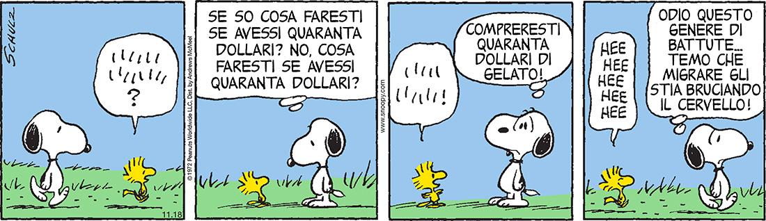 peanuts 18 novembre