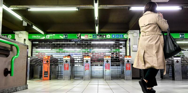 La stazione Cadorna di Milano durante uno sciopero