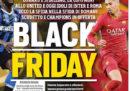 La prima pagina del Corriere dello Sport di giovedì, criticata anche all'estero