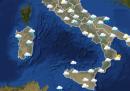 Le previsioni meteo per lunedì 20 gennaio