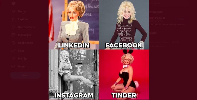 Da dove arriva questo meme con Linkedin, Facebook, Instagram e Tinder