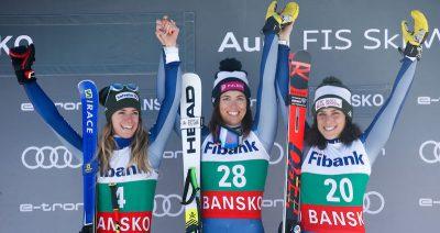 Elena Curtoni ha vinto la gara di discesa libera di Coppa del Mondo a Bansko, in Bulgaria