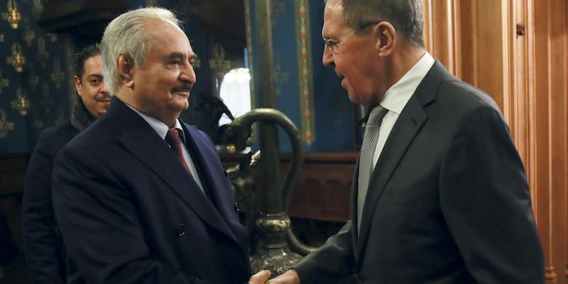 Haftar (Libia) e Lavrov (Russia)