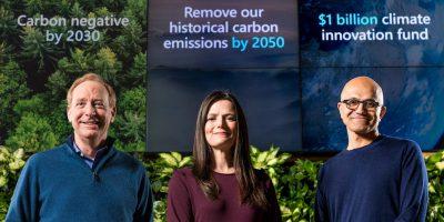 Microsoft vuole rimuovere tutta l'anidride carbonica che ha prodotto dal 1975