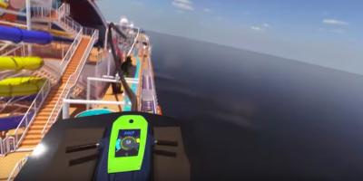 Hanno messo delle montagne russe sopra a una nave da crociera