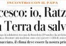 """C'è una nuova """"intervista"""" di Eugenio Scalfari col Papa"""