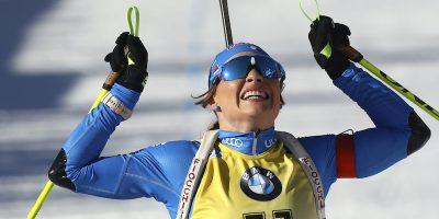 Dorothea Wierer ha vinto la sua seconda medaglia d'oro ai Mondiali di biathlon di Anterselva
