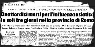 Le altre pandemie italiane, viste dai giornali