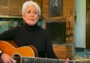 """Joan Baez ha cantato """"Un mondo d'amore"""" per l'Italia"""