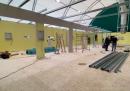 I lavori di costruzione per la nuova unità di terapia intensiva dell'ospedale San Raffaele di Milano