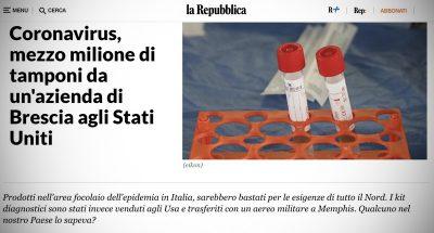 Cos'è questa storia dei tamponi inviati negli Stati Uniti da Brescia