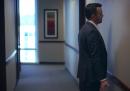 Una riunione in ufficio come se fosse una videoconferenza