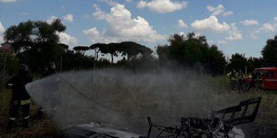 Un aereo ultraleggero è caduto in provincia di Roma e le due persone a bordo sono morte