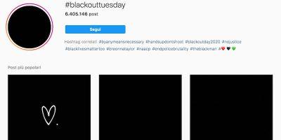 """""""Blackout Tuesday"""", il motivo per cui ci sono foto nere su Instagram"""