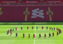 Il Liverpool inginocchiato per George Floyd