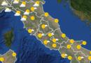 Le previsioni meteo per venerdì 12 giugno