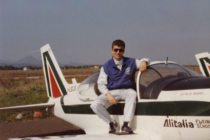 Alberto Nassetti alla scuola di volo di Alitalia