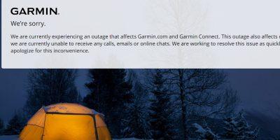Il servizio di Garmin che serve a registrare i percorsi di runner e ciclisti ha smesso di funzionare