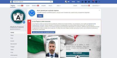 Facebook ha rimosso la pagina della casa editrice Altaforte, vicina a CasaPound
