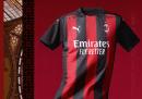 La nuova maglia del Milan per il 2020/2021