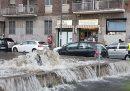 La pioggia ha fatto esondare il fiume Seveso a Milano