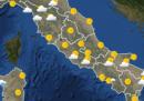 Le previsioni meteo per giovedì 27 agosto