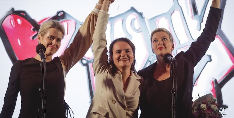 Le donne che si oppongono al regime di Alexander Lukashenko.