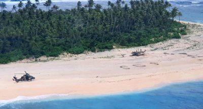 Scrivere «SOS» sulla spiaggia serve