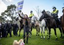 Le foto della protesta contro il lockdown a Melbourne